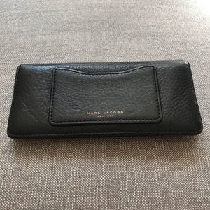 March Jacobs Black Pebble Leather Wallet